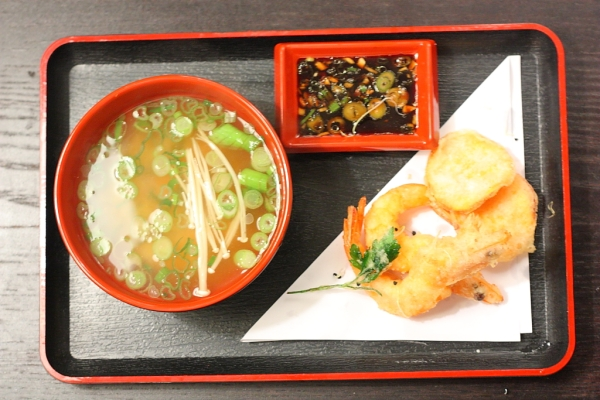 tempura and miso soup
