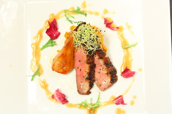duck with orange tea sauce