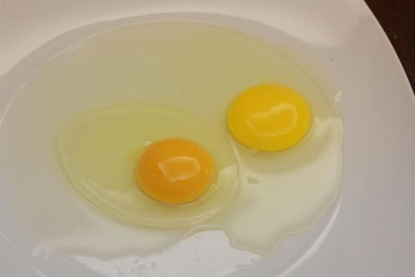 بيض جديد مقابل قديم